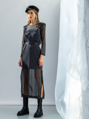 The KNLs Illusion Dress Black Sheer