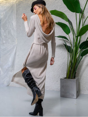 The KNLs Illusion Dress Ecru Knitted