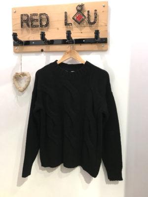 Chaton Anna Knit Sweater Black