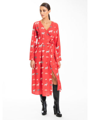 Chaton Christmas Forest Midi Dress