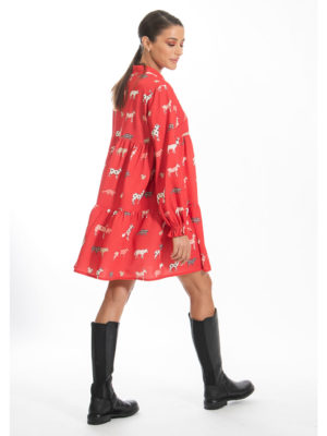 Chaton Christmas Forest Short Dress