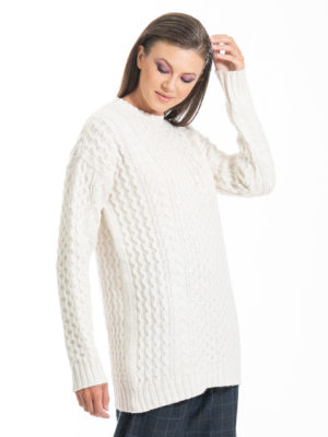 Chaton Elsa Knit Sweater Ecru
