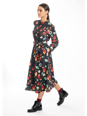 Chaton Flower Forest Midi Dress