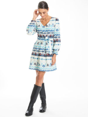 Chaton Nordic Short Dress