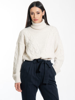 Chaton Olsen Knit Sweater Ecru