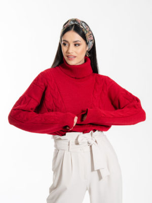 Chaton Olsen Knit Sweater Red