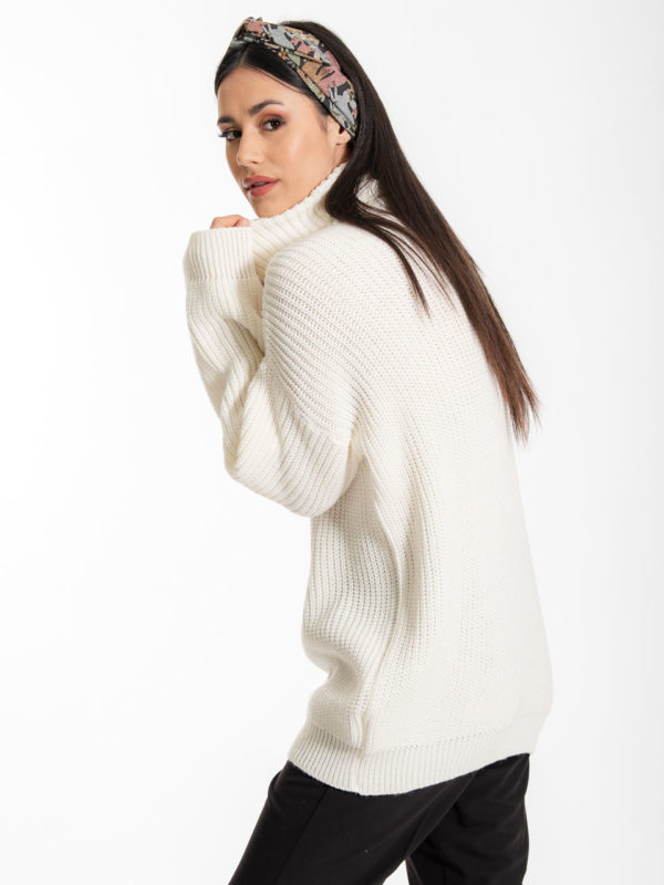Chaton Sven Knit Sweater Ecru