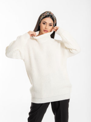 Chaton Sven Knit Sweater Ecru
