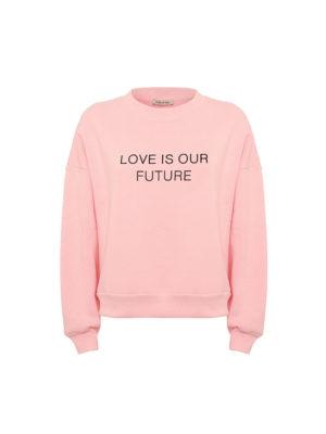 Milkwhite Sweatshirt Baby Pink
