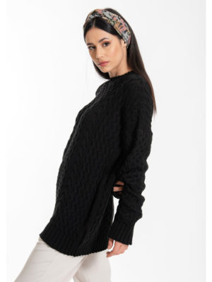 Chaton Elsa Knit Sweater Black