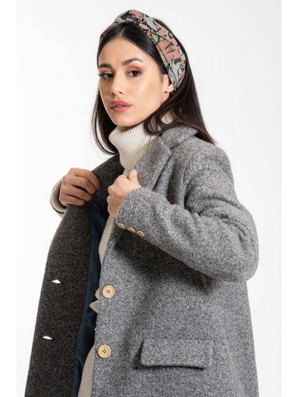 Chaton Rory Oversized Coat Grey