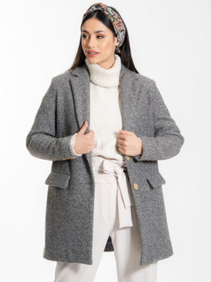 Chaton Rory Oversized Coat Grey