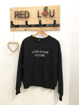 Milkwhite Sweatshirt Black