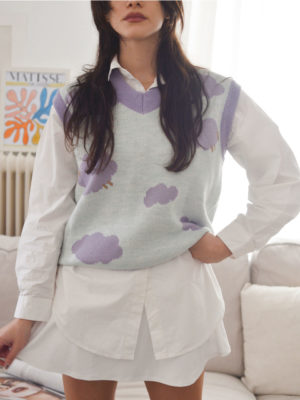 Ode Cloudy sheep knitted vest