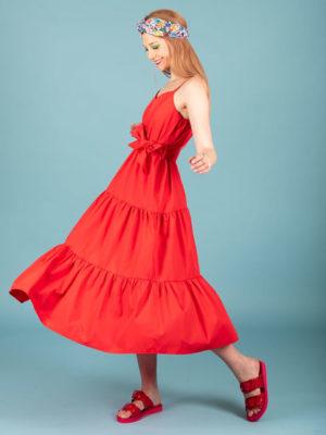 Chaton Irene Dress Red