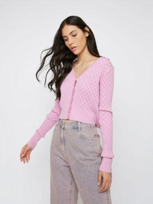 Glamorous Pink Cardigan