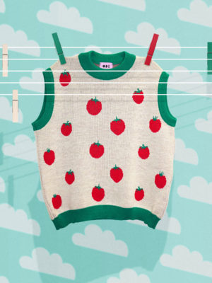 Ode Tomato Knitted Vest