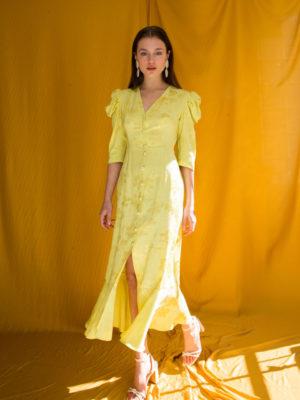 Ananke Cynthia Puff Sleeve Button Dress