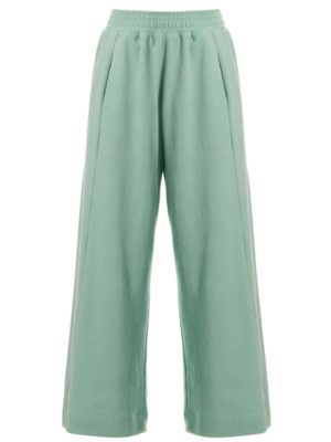 Milkwhite Cropped Flare Sweatpants Mint