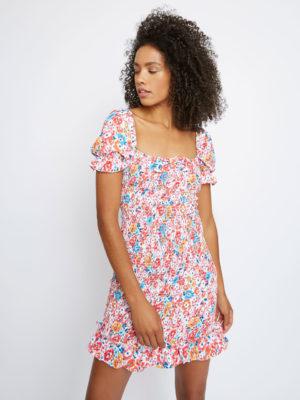 Glamorous Floral Short Dress