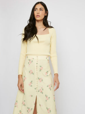 Glamorous Yellow Blouse