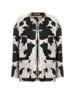 Milkwhite Printed Tweed Jacket
