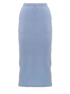 Milkwhite Sweatshirt Skirt Light Blue