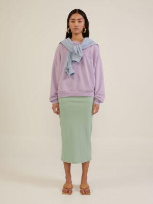 Milkwhite Sweatshirt Skirt Mint