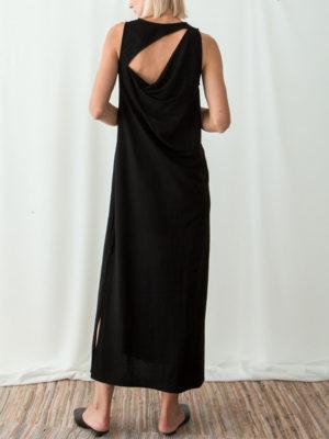 Ofilia's Draped Slit Back Dress