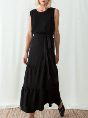 Ofilia's Wrap ruffled skirt