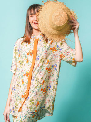 Arpyes Hibiscus Shirt Beige