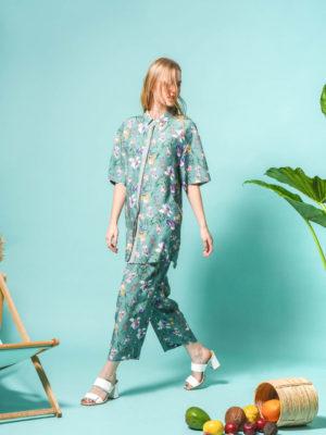 Arpyes Hibiscus Shirt Green