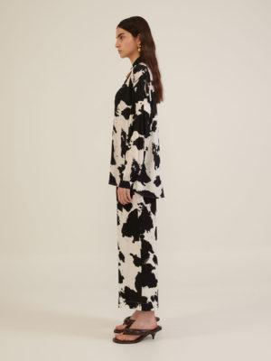 Milkwhite Cropped Pants Black & White