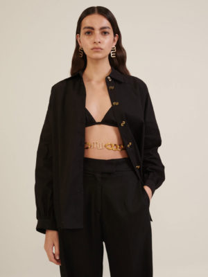 Milkwhite Oversized Black Shirt